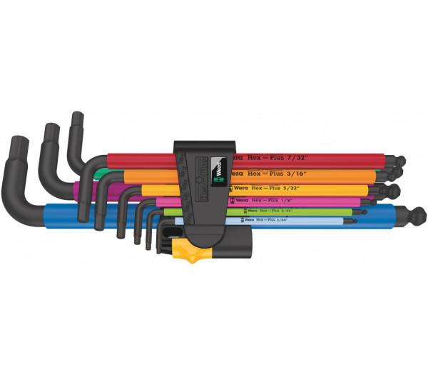 Набор Г-образных ключей WERA 950/9 Hex-Plus Multicolour Imperial 2 BlackLaser 022640