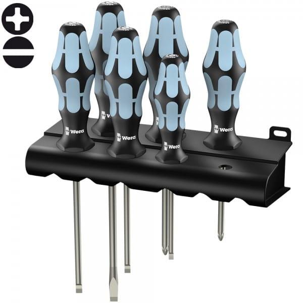 Набор отверток WERA 3334/6, нержавеющая сталь, 6 шт. + подставка 032060
