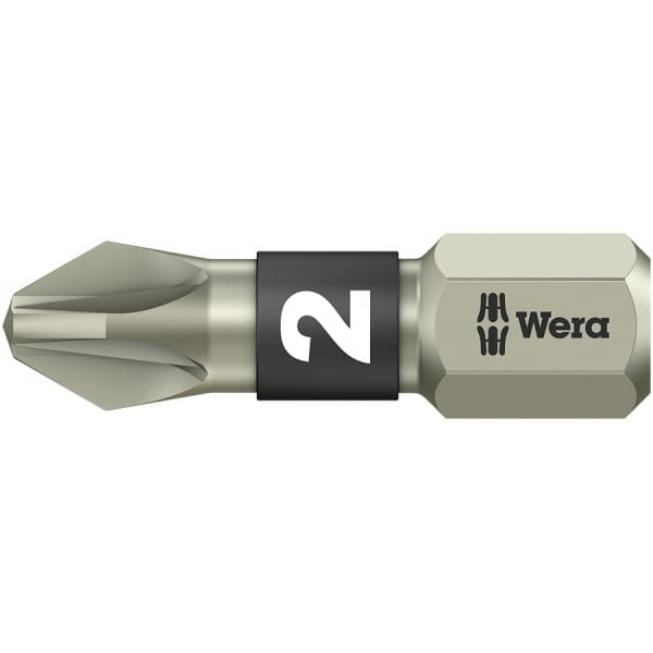 Бита WERA 3855/1 TS Pozidriv PZ 2, нержавеющая сталь 071021