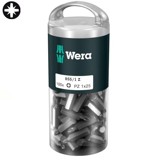 Биты WERA 855/1 Z DIY 100 PZ 1 x 100 шт. 072443