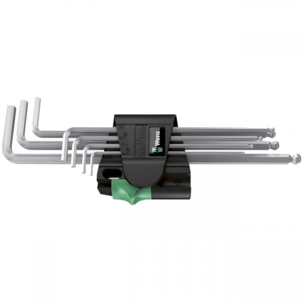 Набор Г-образных ключей метрических хромированных WERA Premium 950 PKL/7 SM SB 073400 упаковка блистер
