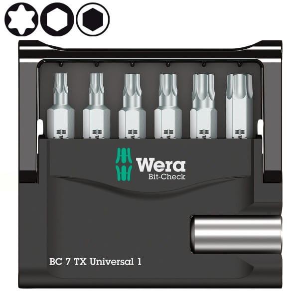 Набор насадок WERA Bit-Check 7 TX Universal 1 SB 073404