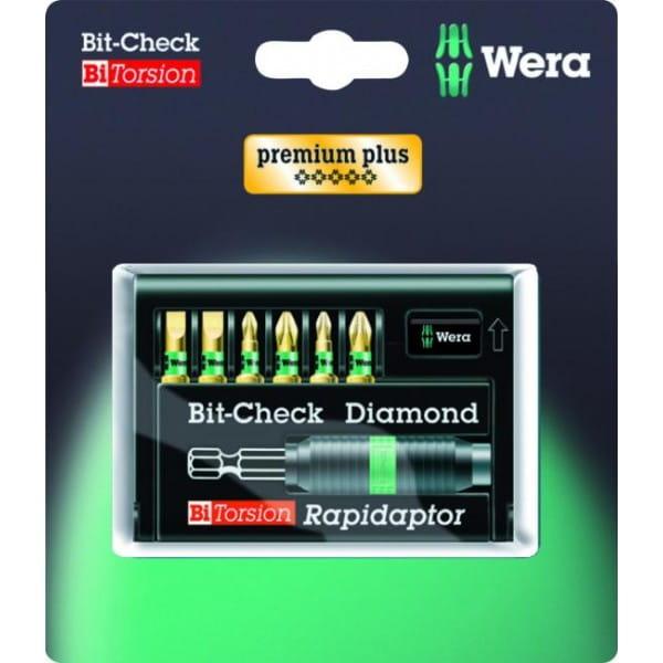 Набор насадок WERA 8700-6/BDC SB Bit-Check – Rapidaptor 073412 упаковка блистер