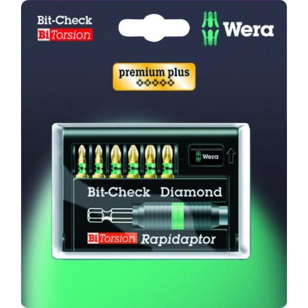 Набор насадок WERA 8755-6/BDC SB Bit-Check – Rapidaptor 073535 упаковка блистер
