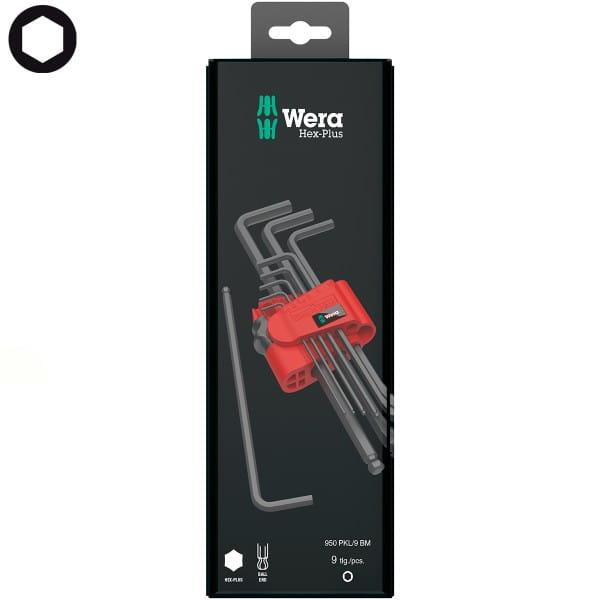 Набор Г-образных ключей метрических WERA BlackLaser 950 PKL/9 BM N SB 073596