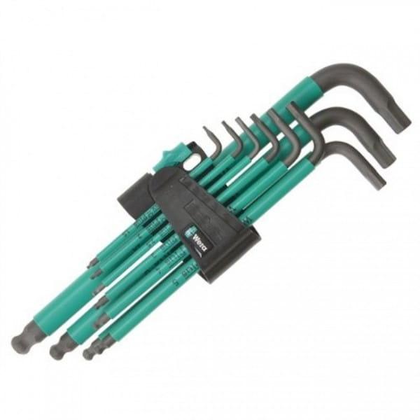Набор Г-образных ключей метрических WERA BlackLaser 950 SPKL/9 SM N SB 073597 упаковка блистер