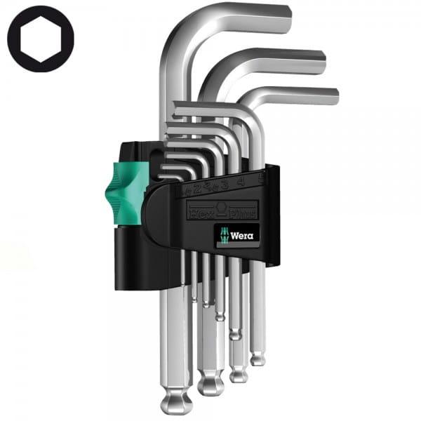 Набор Г-образных ключей, метрических, хромированных WERA 950 PKS/9 SM N 133163