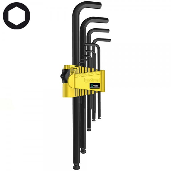 Набор Г-образных ключей, дюймовых, WERA 950 PKL/13 SZ N BlackLaser 021728