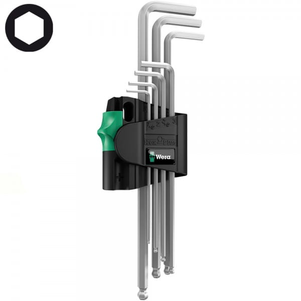 Набор Г-образных ключей, метрических, хромированных WERA 950 PKL/7B SM Magnet 022101