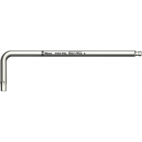 Ключ Г-образный WERA 3950 PKL, нержавеющая сталь, 10x224 мм, метрический, 022709