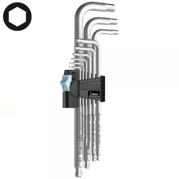 Набор Г-образных ключей WERA 3950 PKL/9, нержавеющая сталь, 9 шт 022720