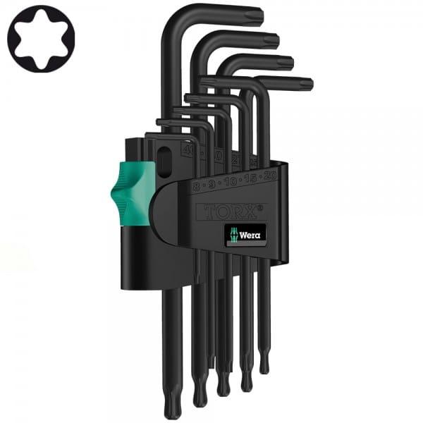 Набор Г-образных ключей WERA 967 PKL/9 TORX® BlackLaser 024242