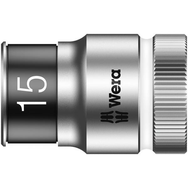 """Торцевая головка 15 мм для ключа-трещотки Zyklop c 1/2"""" с функцией фиксации WERA 8790 HMC HF 003735"""
