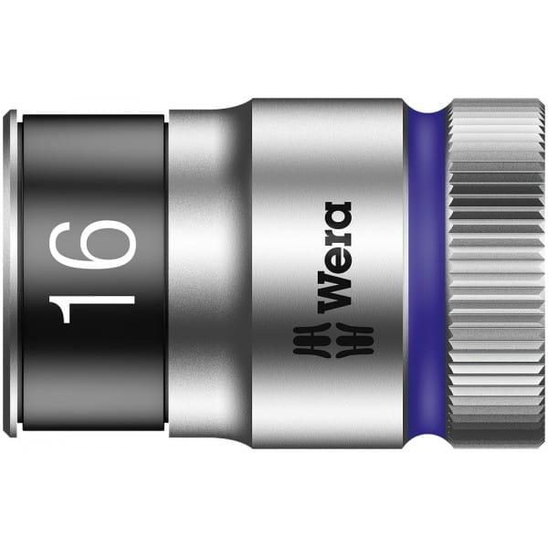 """Торцевая головка 16 мм для ключа-трещотки Zyklop c 1/2"""" с функцией фиксации WERA 8790 HMC HF 003736"""