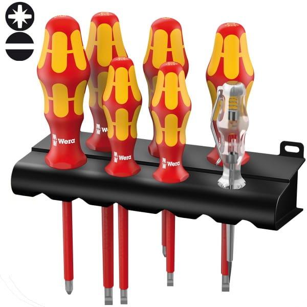 Набор отверток диэлектрический WERA  Kraftform Plus 160 i/165 i/7 Rack , 006148