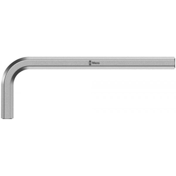 Ключ Г-образный 2 мм, метрический, хромированный WERA 950 021010