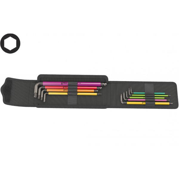 Набор Г-образных ключей WERA 950/9 Hex-Plus Multicolour 1, BlackLaser, 004173