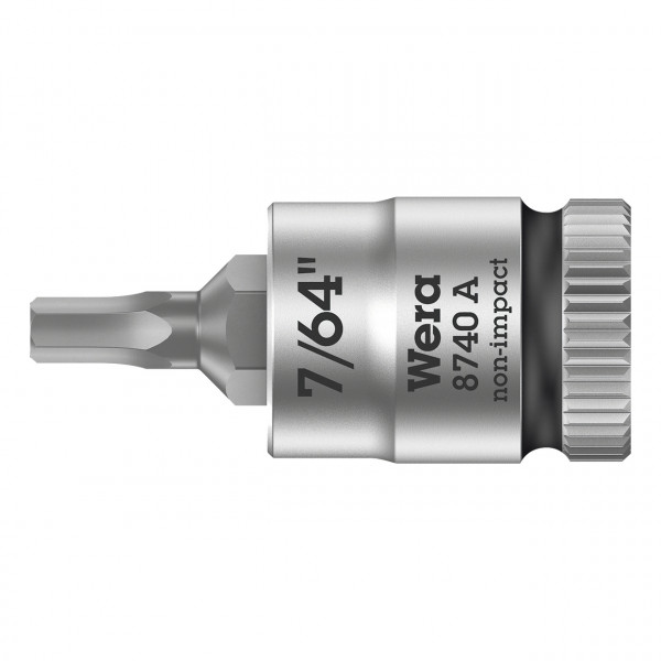 """Отверточная головка Zyklop 8740 A с приводом 1/4"""" WERA 003382"""