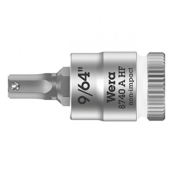 """Отверточная головка Zyklop с приводом 1/4"""", с  фиксирующей функцией WERA 8740 A HF 003384"""