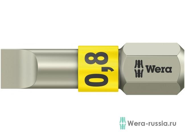 3800/1 TS для винтов со шлицем 0,8/25 мм, нержавеющая сталь WE-071000 в фирменном магазине Wera