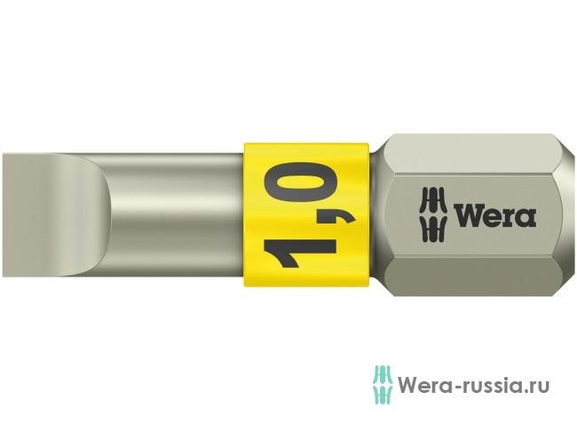 3800/1 TS для винтов со шлицем 1/25 мм, нержавеющая сталь 071001 WE-071001 в фирменном магазине Wera