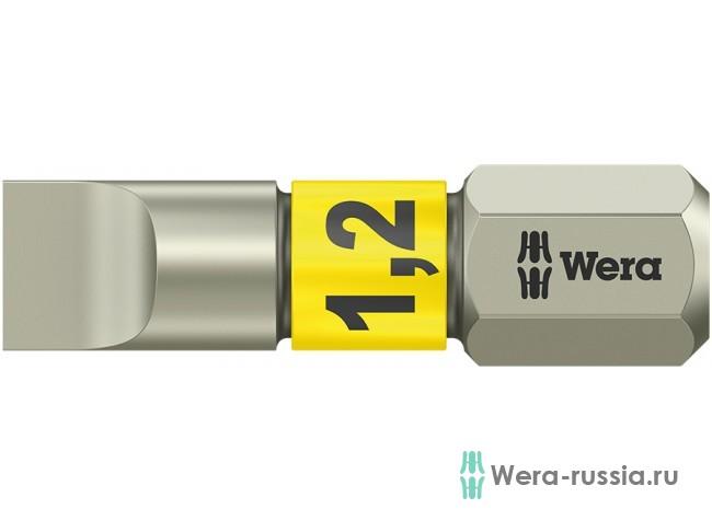 3800/1 TS для винтов со шлицем 1,2/25 мм, нержавеющая сталь WE-071002 в фирменном магазине Wera