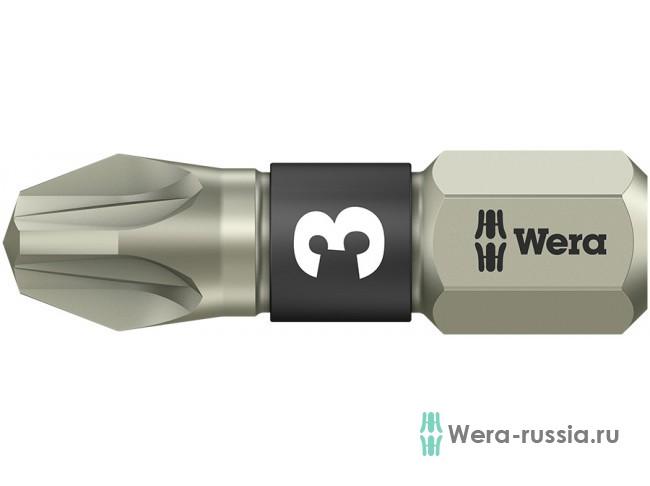 3855/1 TS Pozidriv PZ 3, нержавеющая сталь 071022 WE-071022 в фирменном магазине Wera