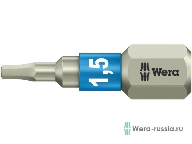 3840/1 TS шестигранник 1,5/25 мм, нержавеющая сталь 071070 WE-071070 в фирменном магазине Wera