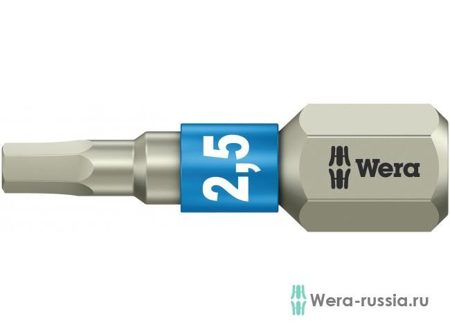 3840/1 TS шестигранник 2,5/25 мм, нержавеющая сталь 071072 WE-071072 в фирменном магазине Wera