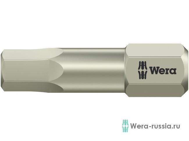 3840/1 TS шестигранник 6/25 мм, нержавеющая сталь 071076 WE-071076 в фирменном магазине Wera