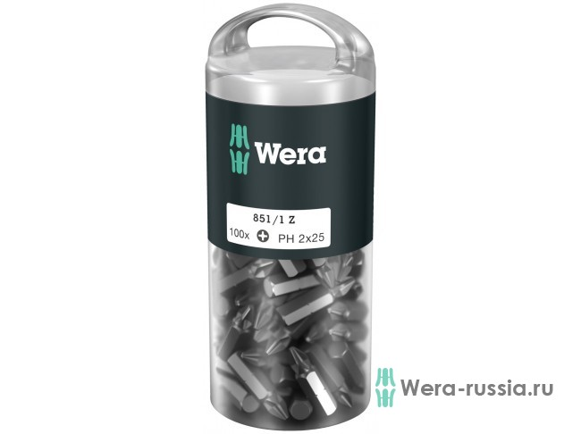 Биты WERA 851/1 Z DIY 100 x PH 2 072441