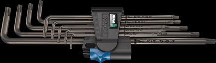 967/9 TX XL HF 1 Набор Г-образных ключей с фиксирующей функцией, удлиненный