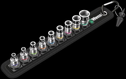 Belt A 1 Набор торцовых головок WE-003880 Zyklop с фиксирующей функцией, 1/4